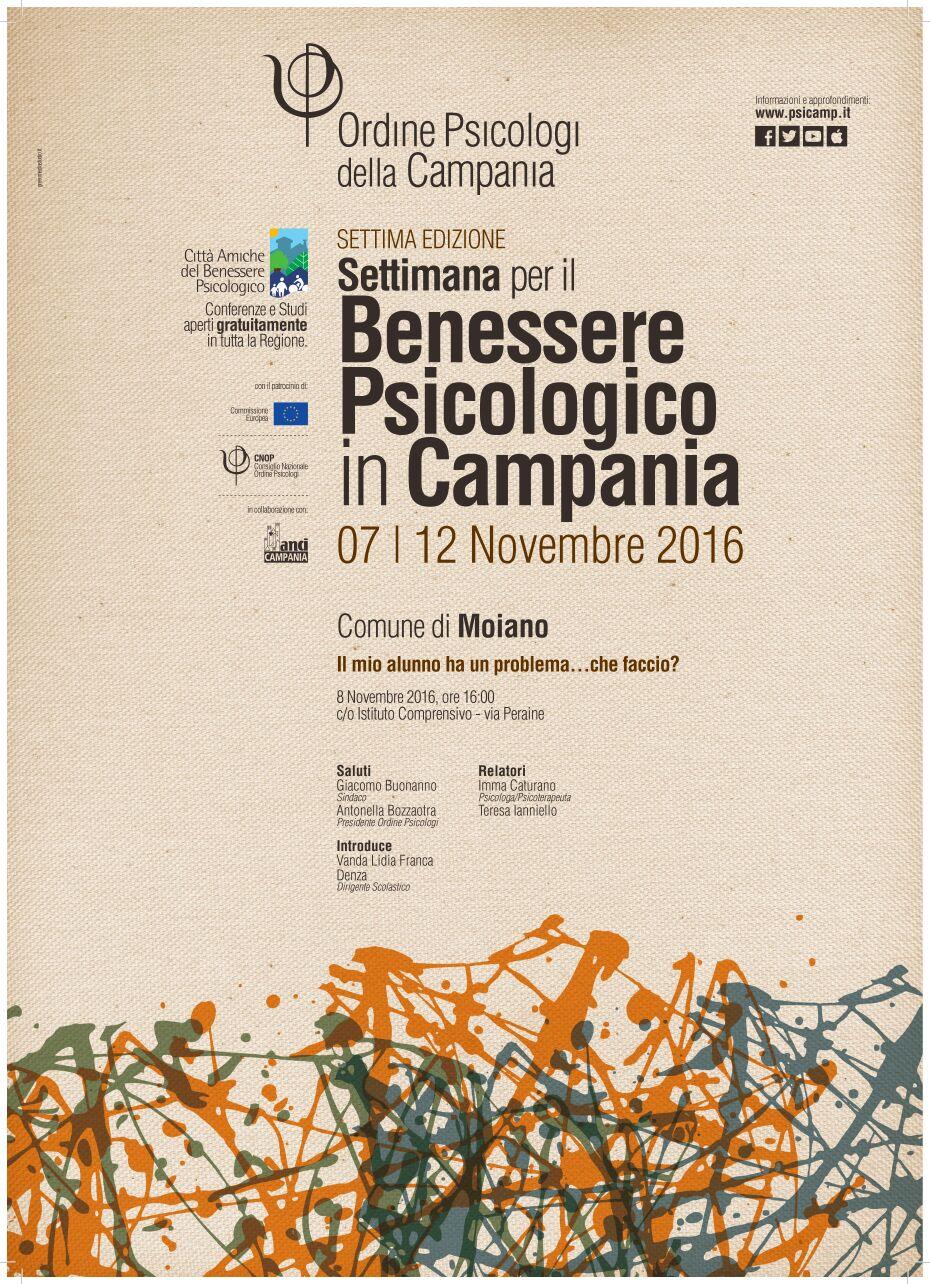 Locandina Benessere Psicologico in Campania
